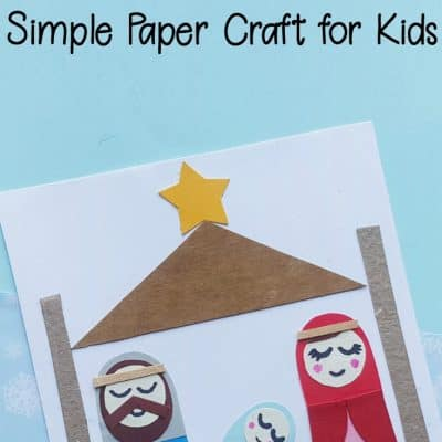 Simple Preschool Nativity Craft