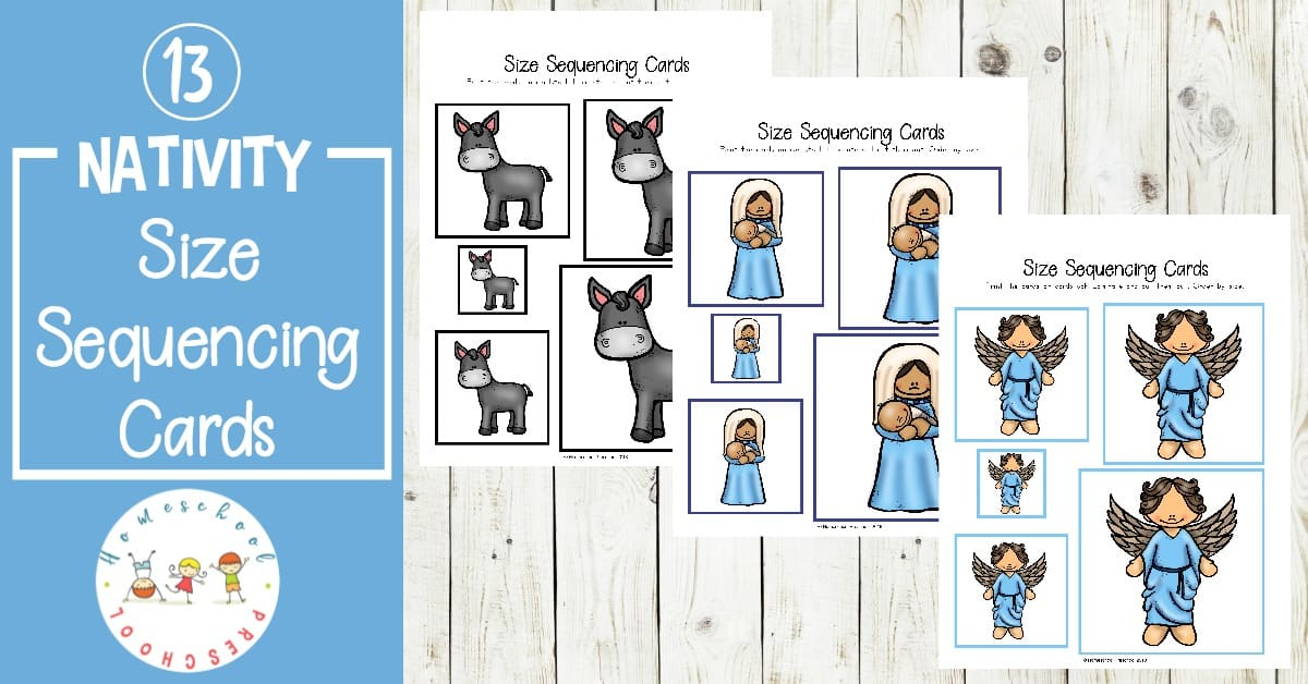 Don't miss these nativity-themed size sequencing pictures! They're perfect for your math centers this the holiday season. This pack includes 13 sets of sequencing cards!
