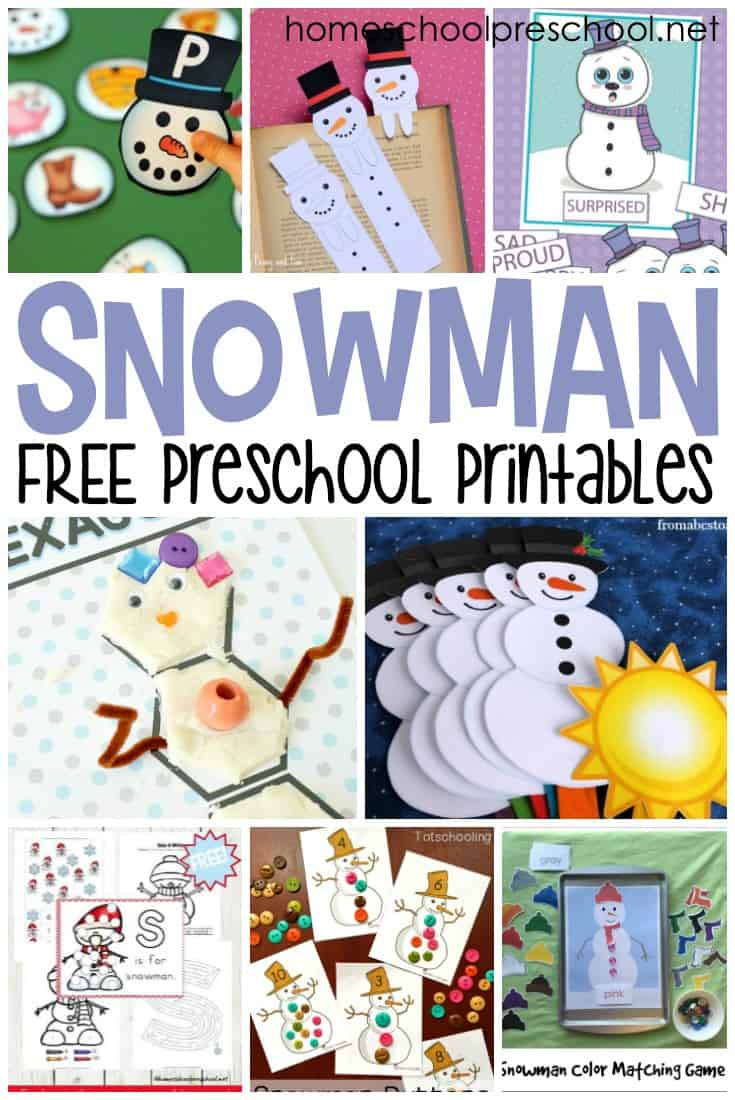 These snowman printables will help you engage your preschoolers in early math and literacy lessons this winter. Don't miss this amazing collection!