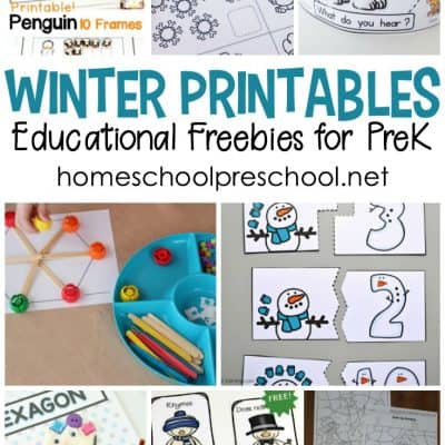 Winter Printables for Preschoolers