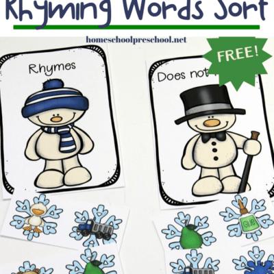 Winter Rhymes for Preschoolers