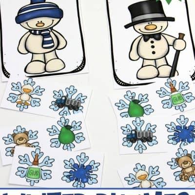 Printable Winter Rhymes for Preschoolers