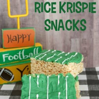 Football Rice Krispie Treat