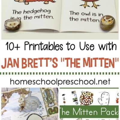 The Mitten Printable Activities for Preschoolers