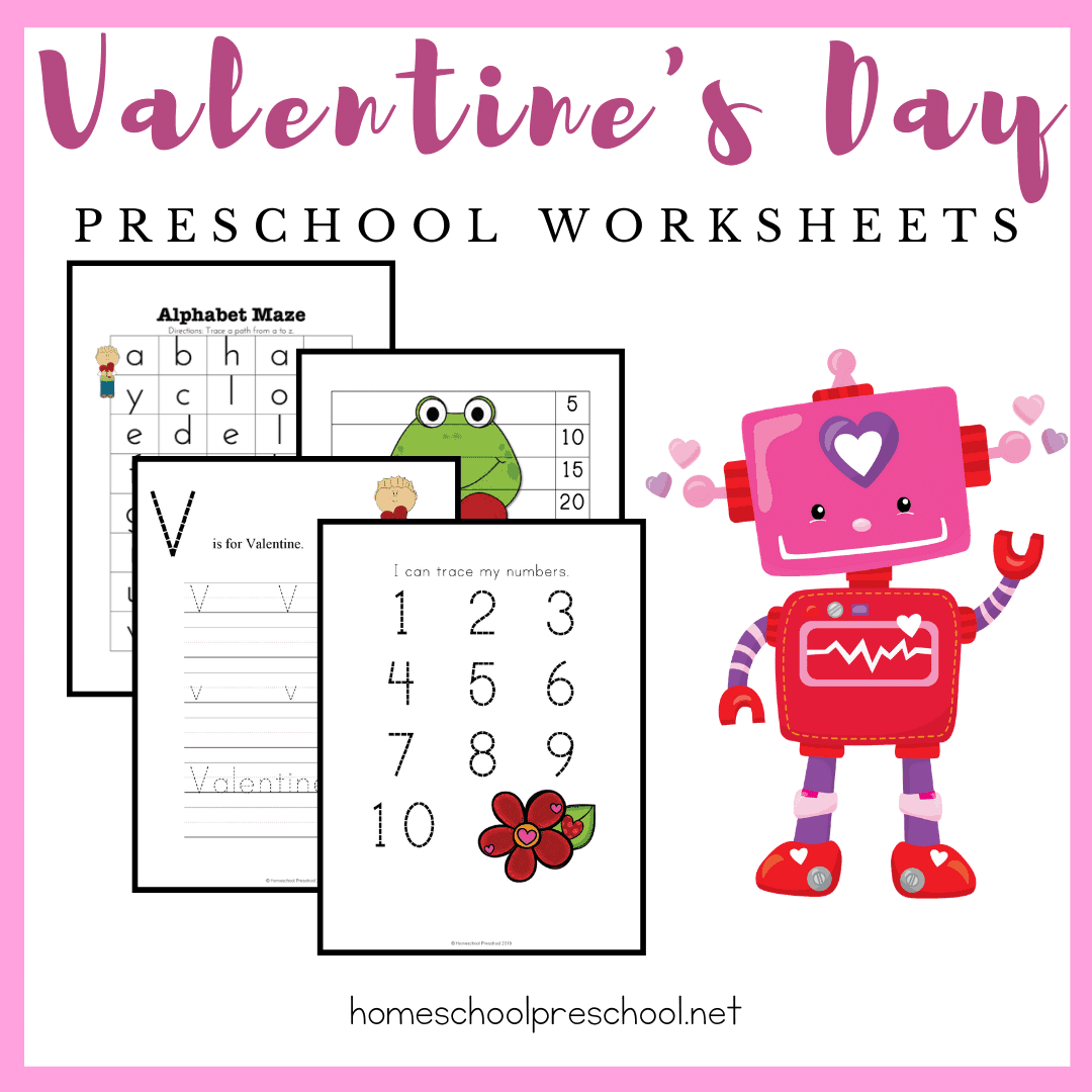 Valentine's Day is just around the corner! Inspire your little learners with these free printable Valentine worksheets for preschoolers.