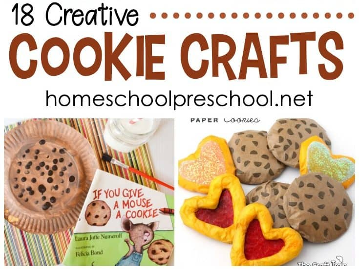 These cookie crafts for preschooler are perfect for your letter of the week activities or to do alongside your favorite cookie-themed picture books!