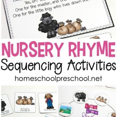 Free Printable Nursery Rhyme Sequencing Cards