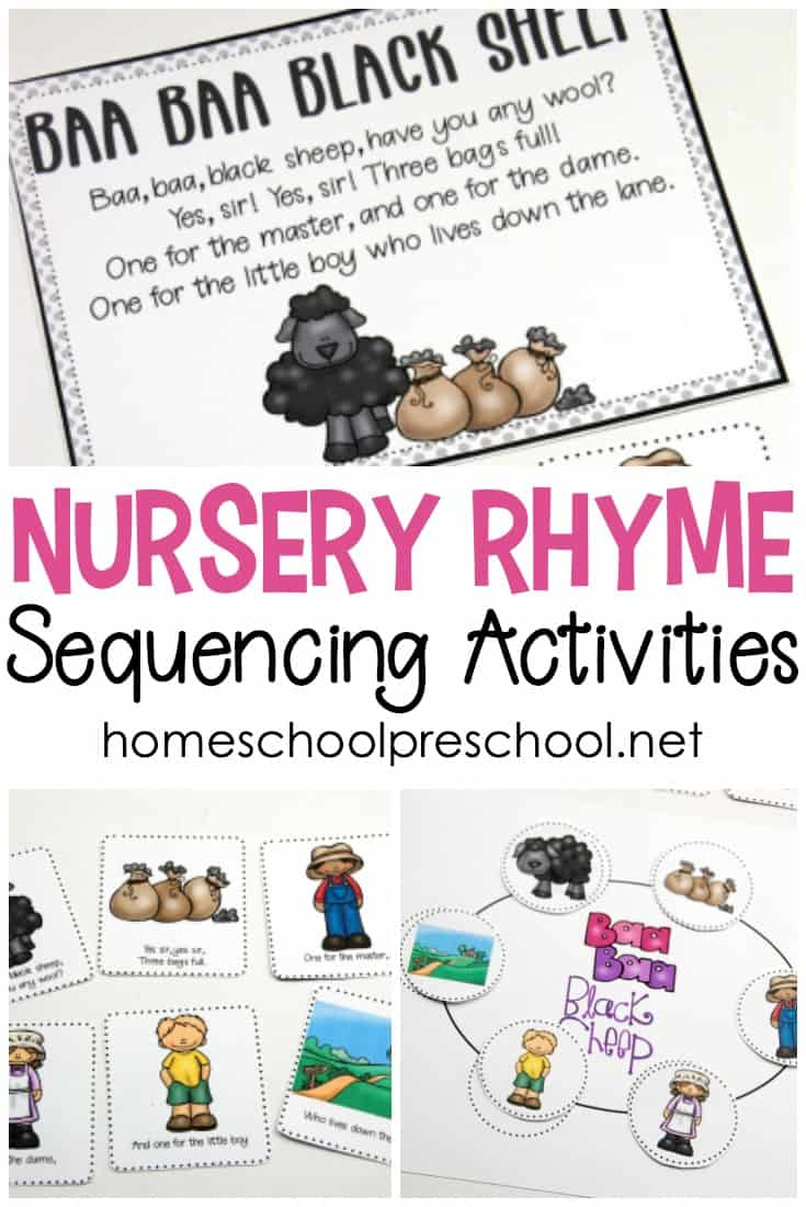 image about Printable Nursery Rhymes titled Absolutely free Printable Nursery Rhyme Sequencing Playing cards and Posters
