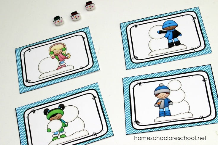 """This winter, preschoolers can practice sequencing with this set of """"how to build a snowman""""sequence card printables. They're perfect for your winter lessons."""