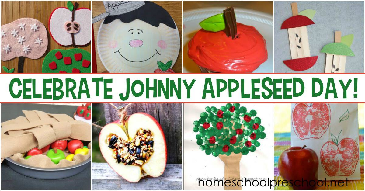 Johnny Appleseed Day is celebrated on either March 11 or September 26. These hands-on activities will help you and your preschoolers join in the fun!