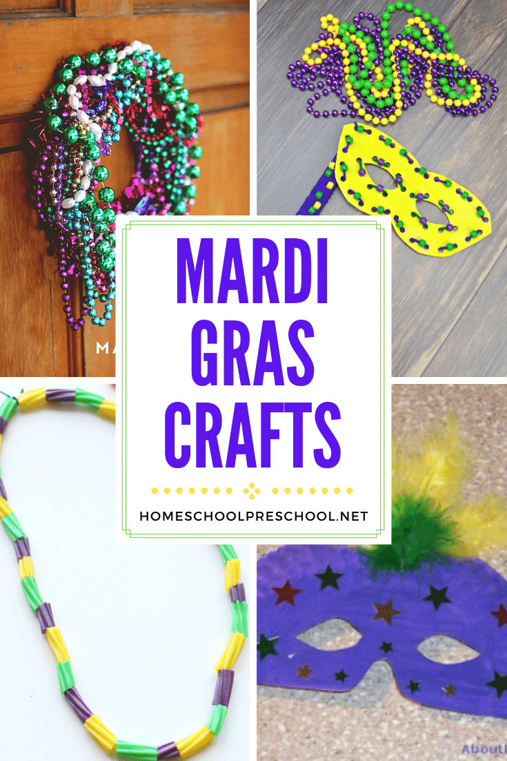 These 11 Mardi Gras crafts for kids are just what you need to create a celebration fit for a king or queen! Start the festivities with beads, masks, and more!