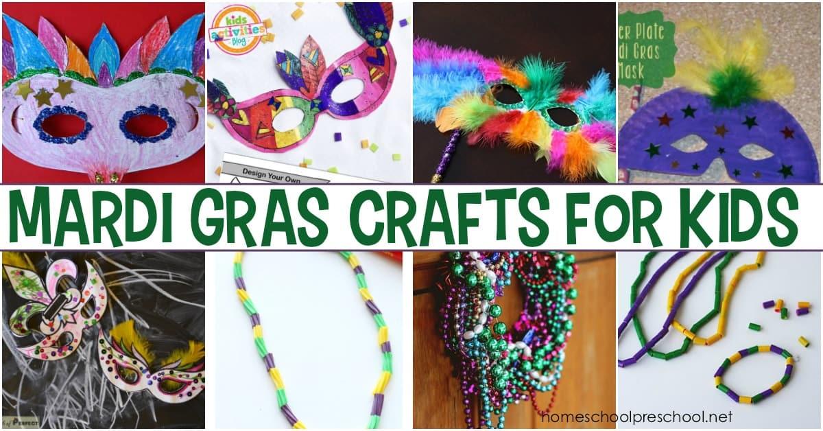Celebrate With 11 Festive Mardi Gras Crafts For Kids