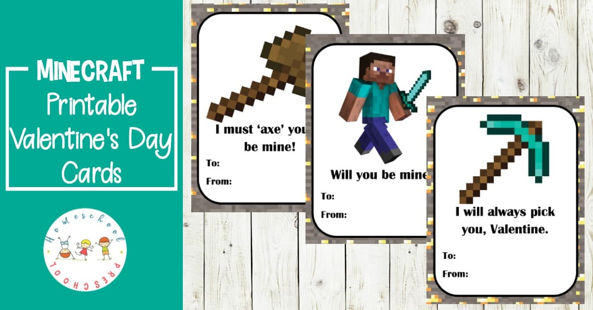 These Minecraft printable Valentine cards are perfect for classroom parties or sharing with loved ones. Just print them out, sign them, and go!