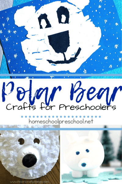 Winter is a great time of year to study polar bears with your little ones. When you do, add one or more of these polar bear crafts for preschoolers!
