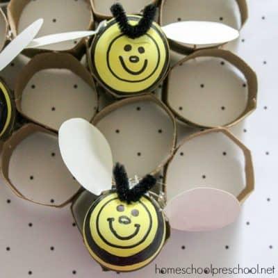 Adorable Preschool Bee Craft