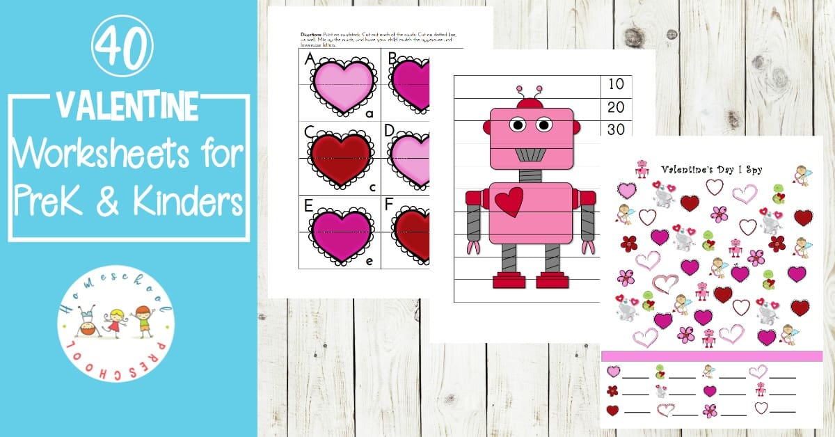 picture regarding Printable Kid Valentines titled Totally free Printable Valentine Worksheets for Preschoolers