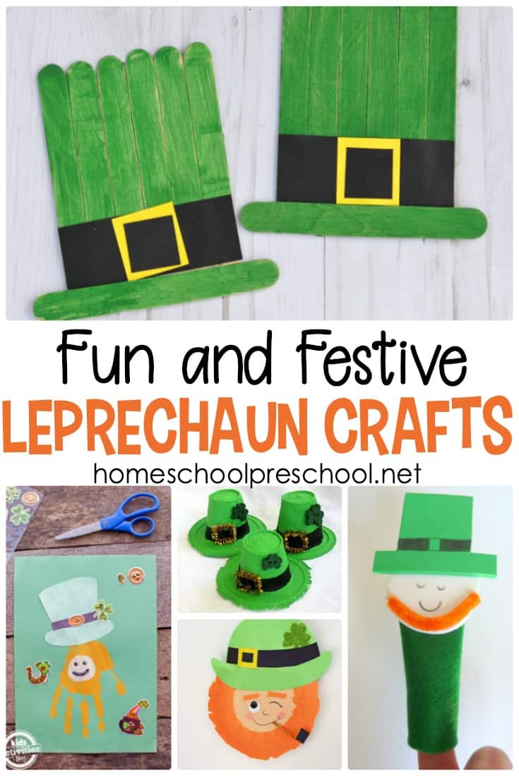 Your kids will love choosing one or more of these simple leprechaun crafts to make this St. Patrick's Day. There are fifteen awesome ideas to choose from!