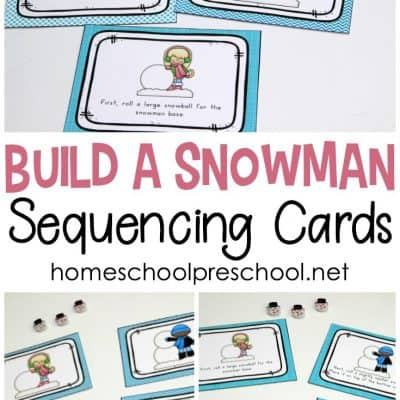 How to Build a Snowman Sequence Card Printables