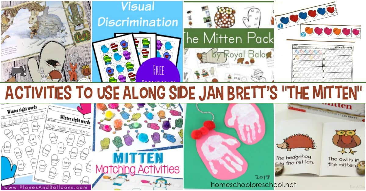This winter, be sure to read Jan Brett's The Mitten with your kids. Then, extend the learning with these The Mitten printable activities.
