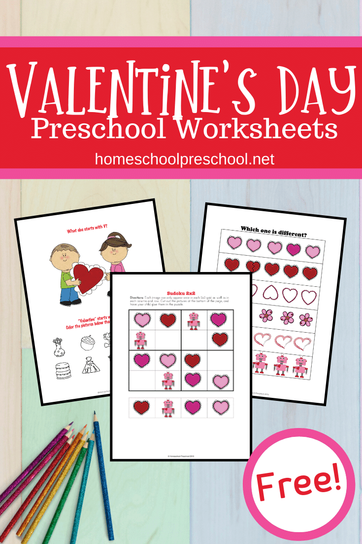 35+ Free Printable Valentine Worksheets For Kindergarten Images
