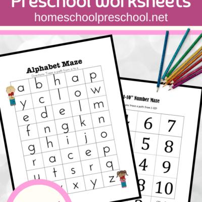 Valentine Worksheets for Preschoolers