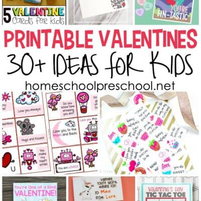 Printable Valentine Card Ideas for Preschool