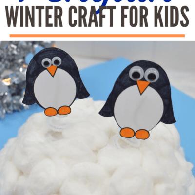 Waddling Penguin Preschool Craft