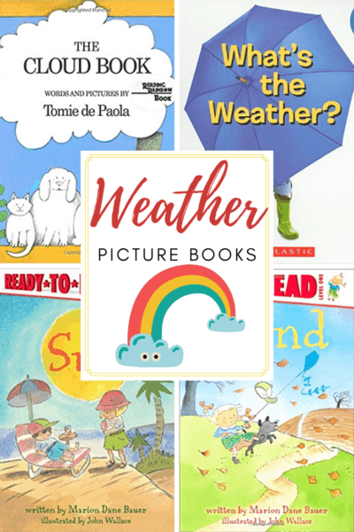Young learners can learn all about the weather with the books featured in this collection of thebest weather books for preschoolers.