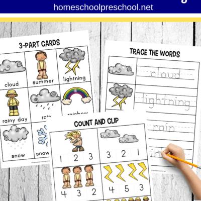 Weather Worksheets for Preschool and Kindergarten