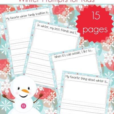Winter Gratitude Journal for Kids