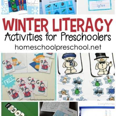 Winter Literacy Activities for Preschoolers