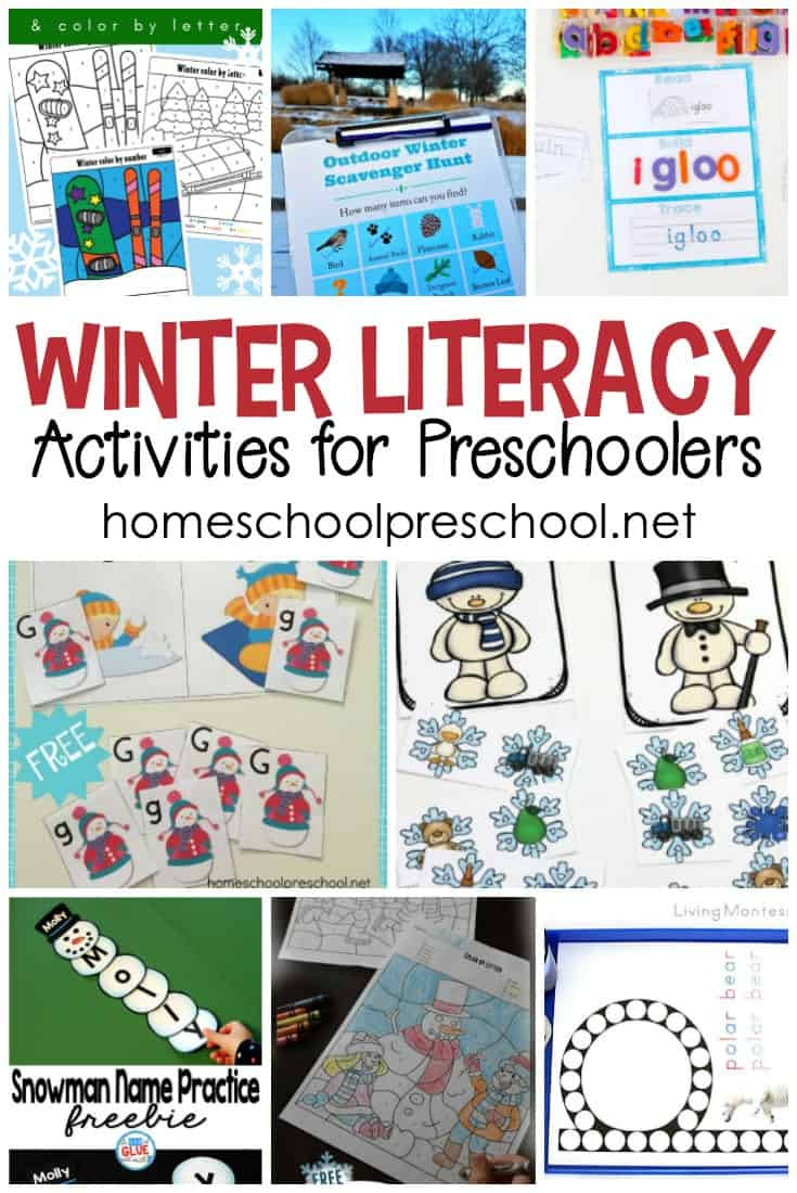 Focus on letter recognition, handwriting, and more with this wonderful collection of winter literacy activities for preschoolers!