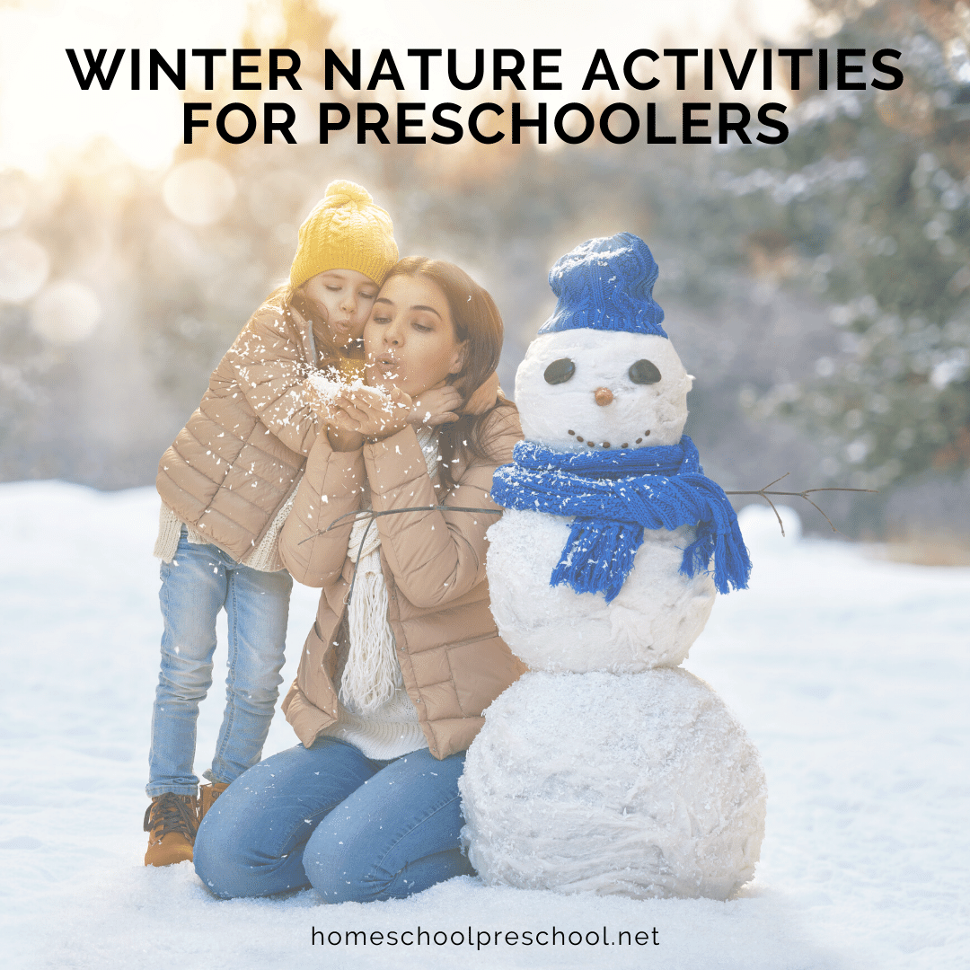 Have you headed outside to enjoy some fun winter nature activities with your preschoolers? If not, now's the time to go explore the uniqueness of winter.