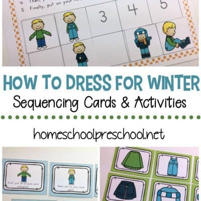 How to Dress for Winter Sequencing for Preschoolers