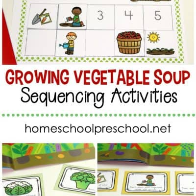 Growing Vegetable Soup Story Sequence Cards