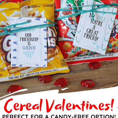 Printable Cereal Valentines for Kids