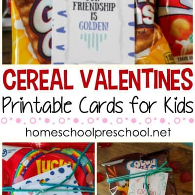FREE Printable Cereal Valentines for Kids