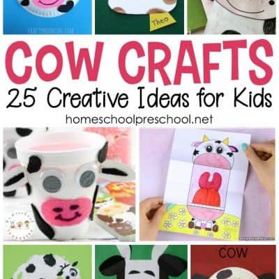 25 Cow Crafts for Preschoolers
