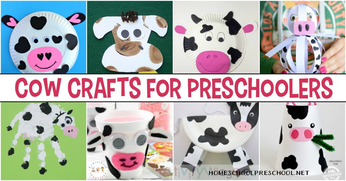 Add these cute cow crafts for preschoolers to your upcoming Letter C, farm, or animal units. Preschoolers will love all 25 of these creative activities.