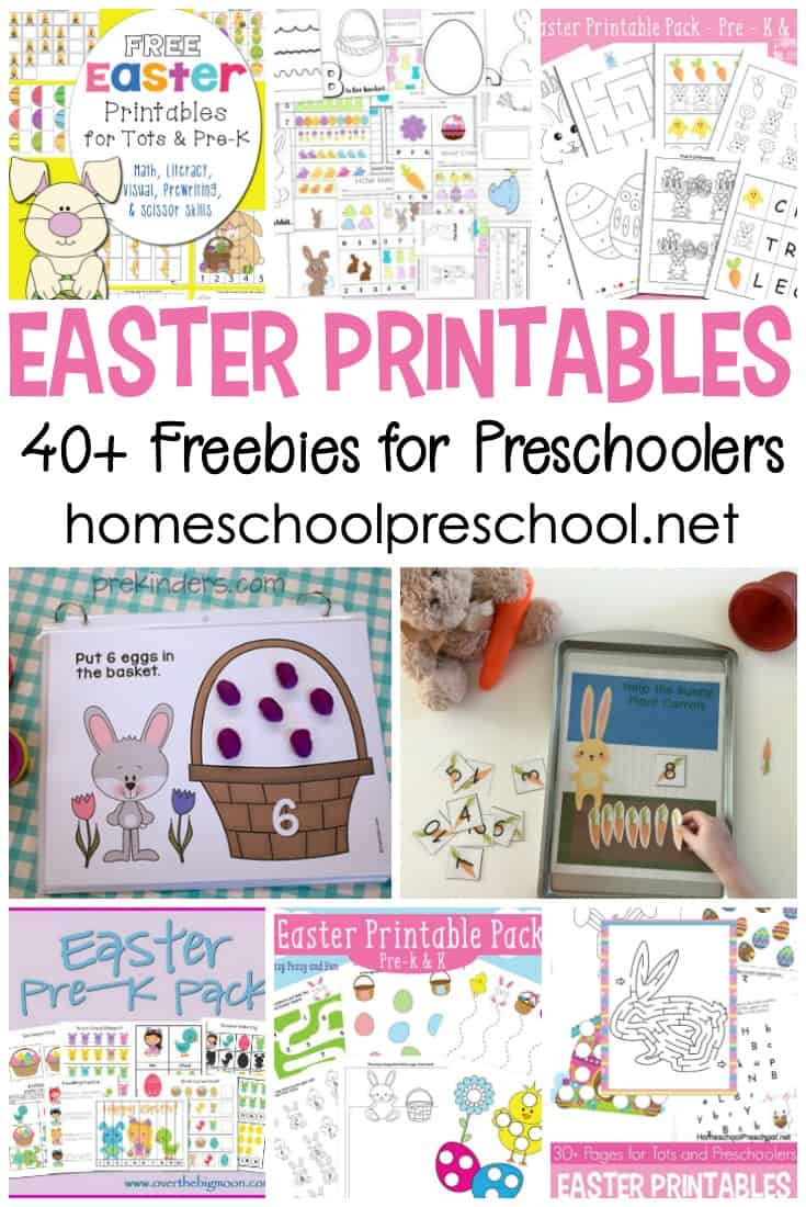 In this collection of free Easter printables for preschoolers, you'll find everything you need to focus on early learning skills this holiday season.