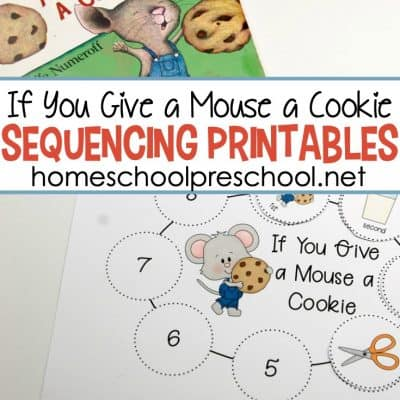 If You Give a Mouse a Cookie Sequencing Printables