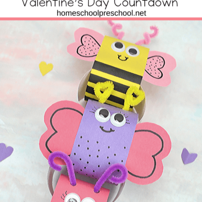 Love Bug Valentines Day Countdown Chain