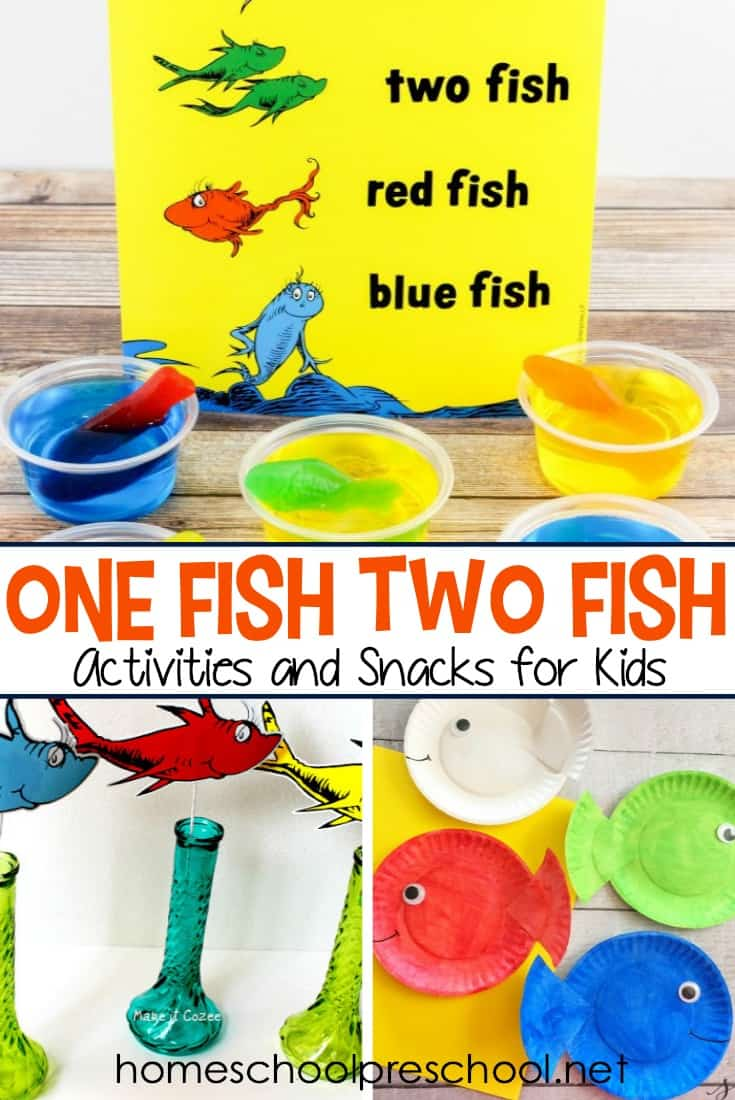 Dr. Seuss Day is the perfect day to try one or more of these One Fish Two Fish activities and snacks! They're perfect for homeschools and classrooms.