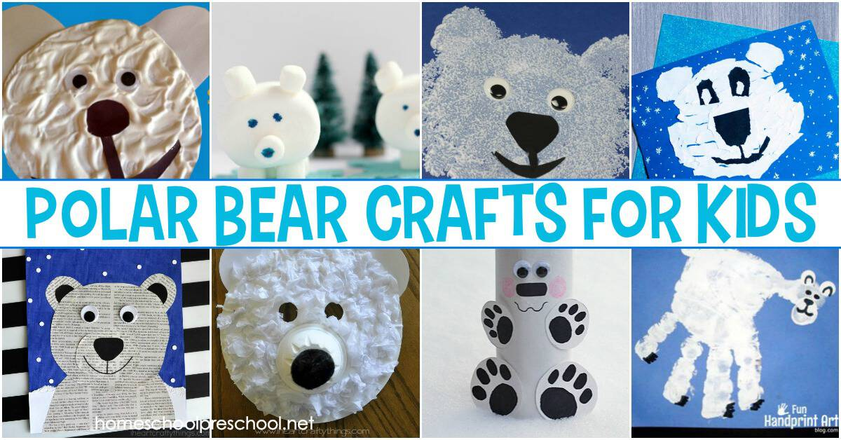 Winter is a great time of year to study polar bears with your preschoolers. When you do, add one or  more of these polar bear crafts for preschool!