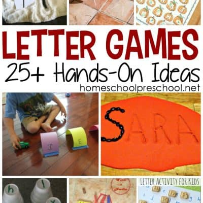 Hands-On Letter Games for Preschoolers