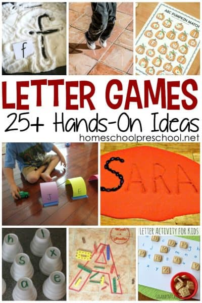 Preschoolers learn best with hands-on activities, and these hands-on letter games are a great way to work on letter recognition and letter sounds.