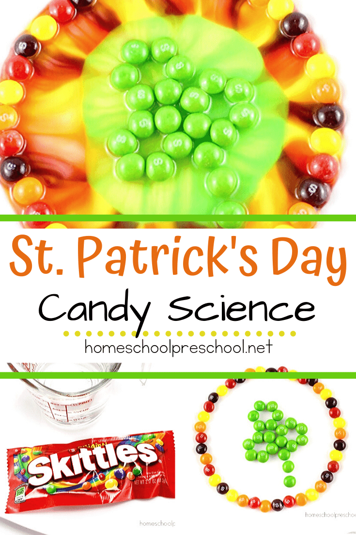 I love being able to incorporate the holidays into our homeschool lessons. This easy Skittles science project is perfect for St. Patrick's Day!