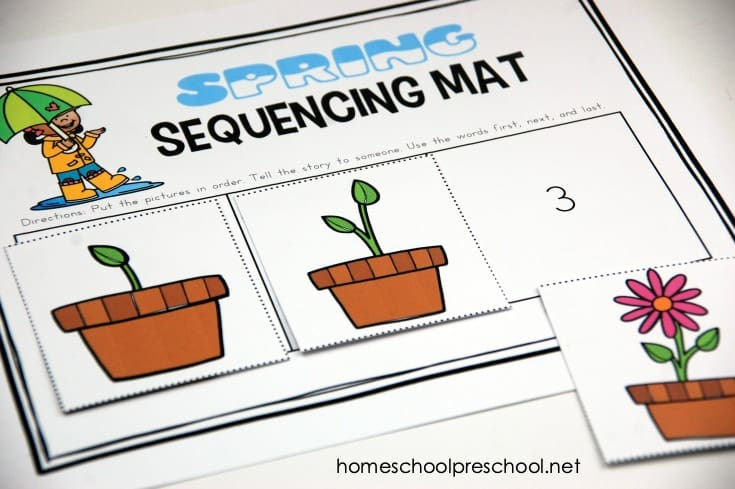Don't miss these spring sequence cards that include puzzles, a sequencing mat, and story telling page for 3 step sequencing cards.