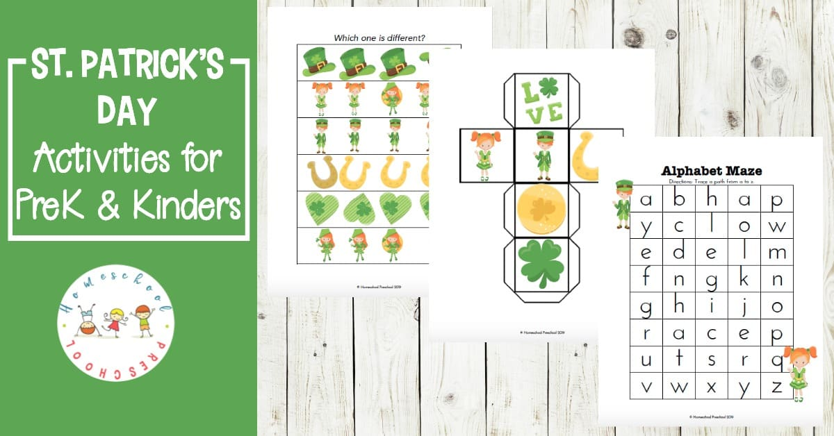 photo relating to St Patrick Day Printable Activities named Printable St Patricks Working day Actions for Preschoolers