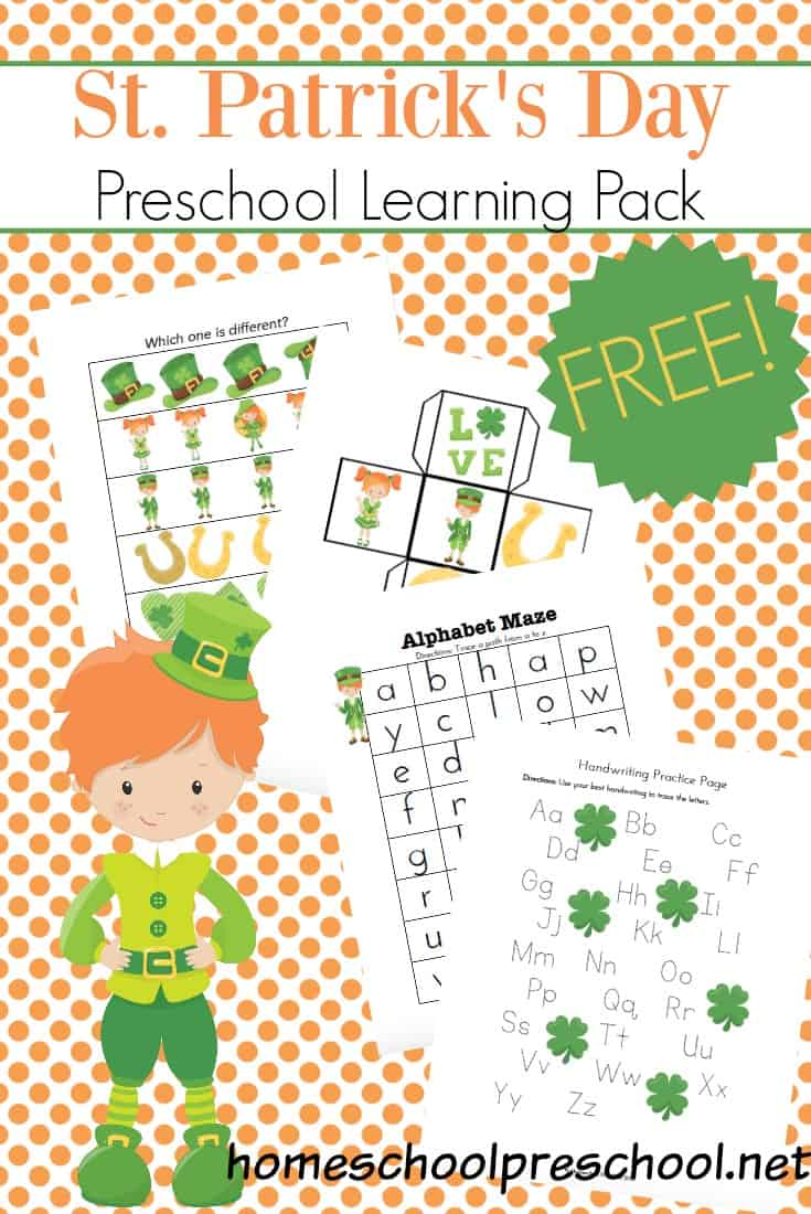 These printable St Patricks Day activities for preschoolers are sure to keep your little ones engaged in the learning process through the month of March.